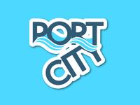 PortCity Sticker
