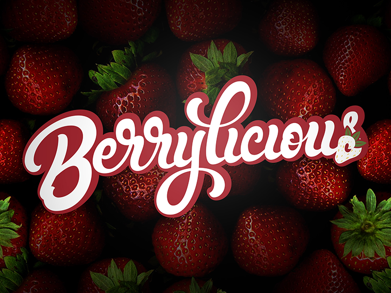 Berrylicious behance logotype hand lettering logo design lettering typography