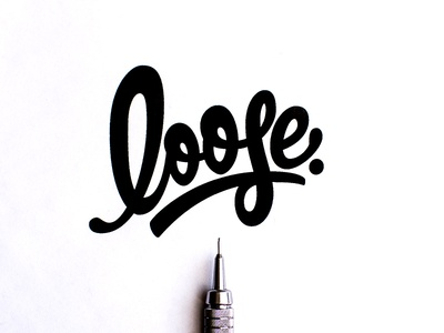 Loose Logotype Hand Lettering