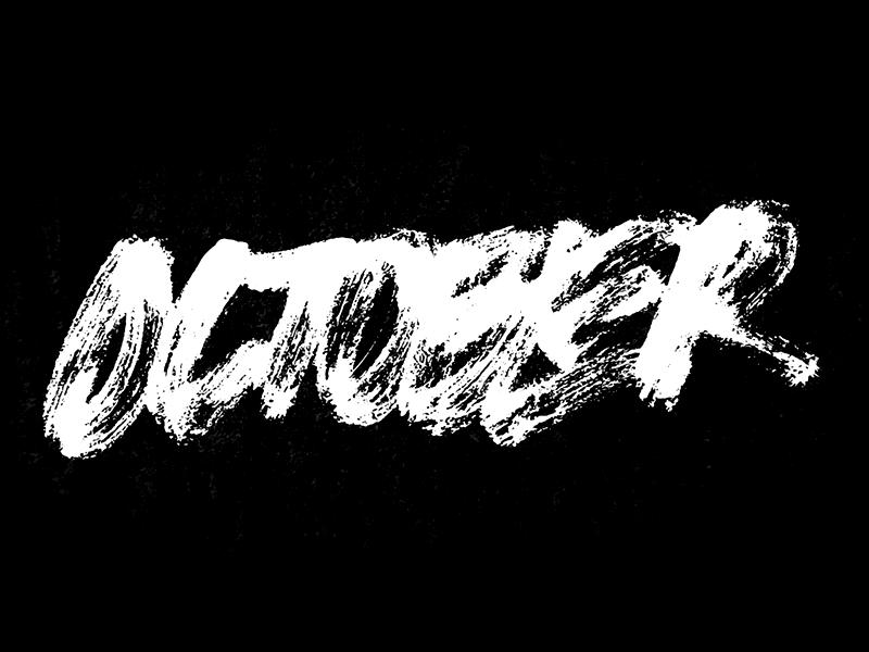 October logo design lettering joshua feliz handletter branding logotype
