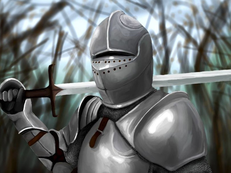 Knight - drawn on my phone colour drawing sword medieval knight paint photoshop design concept art