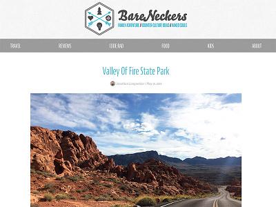 BareNeckers Post article blog website branding design