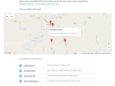 BareNeckers Map locations map blog website branding design
