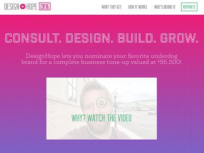 DesignHope 2016 homepage banner website branding design