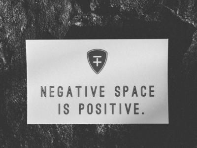 Space Retreat - Negative Space is Positive print sticker logo branding design