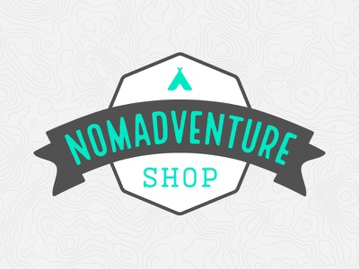 Nomadventure Shop Logo modern retro adventure branding logo
