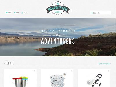 Nomadventure Shop Home store commerce shop travel adventure design logo