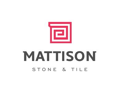 Mattison Stone & Tile logotype icon block tile design logo