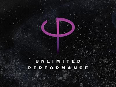 Unlimited Peformance logo design tile block icon logotype
