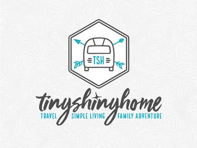 Tiny Shiny Home airstream travel logo design