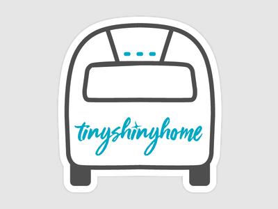 Tiny Shiny Home Sticker sticker airstream travel logo design