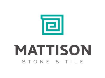 Mattison Stone & Tile Logo branding stone logo design