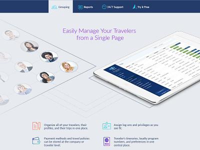 AmTrav Manage Travelers website ux ui signup branding design