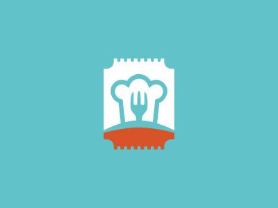 Food Station Logo fork hat cook restaurant food logo