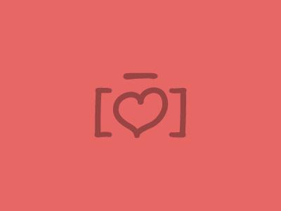 Memories Logo camera heart logo