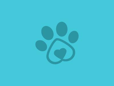 Veterinary Office Logo paw pet heart veterinary animals logo