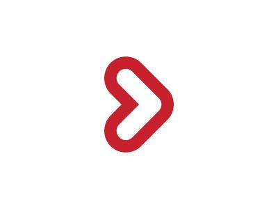 Moveri Fundation Logo children fundation sport play arrow heart logo