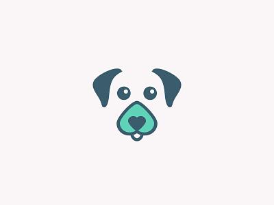 DingDog Logo app heart dog logo
