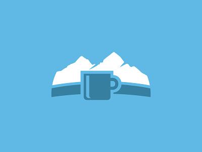 Mountain Coffee cup coffee mountain logo