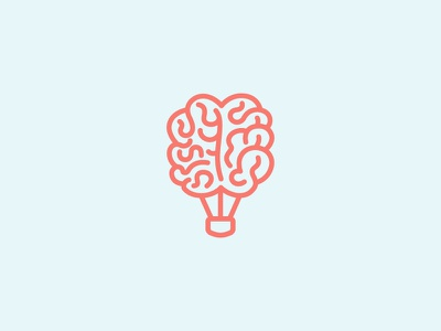 Brain Free creative mind balloon brain logo
