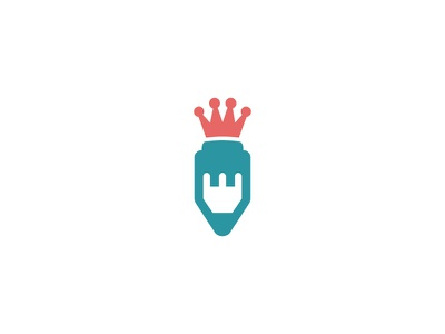 Design Kings tower creative crown pencil design logo