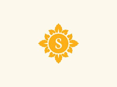 Sunny Garden cosmetic sun spa beauty leaf garden sunny logo