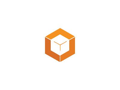 Box creative branding box logo