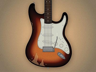 Sunburst Stratocaster vectorillustration guitar talkingheads stratocaster sunburst fender