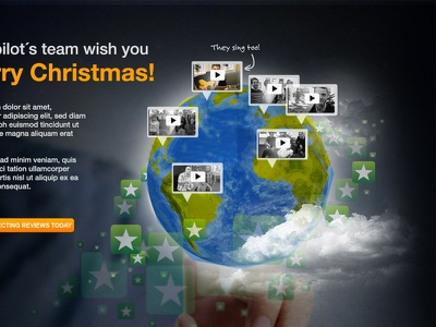 Xmas landing page xmas christmas globe earth video tierra globo navidad felicitación canción jingle