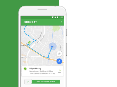 Multi-leg Trip Planning for Go-Jek's Driver App motorbike goods cab taxi fleet customer uber indonesia gojek daily income performance monitor directions location pickup delivery service delivery freight forwarding driver