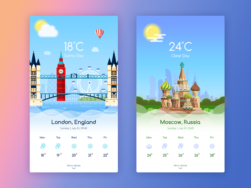 Weatherapp moscow