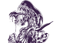 Day 6 Inktober 2018 drooling digital alien xenomorph illustration inktober2018 inktober