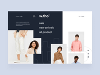 w.tho - Online Shop online shop cloth interaction animation cart buy shop fashion landscape dashboard app clean card user interfaces simple design homepage website ux ui