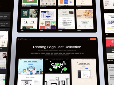 upshift.supply - Landing Page Best Collection sites interface supply curated designs inspirational categories collection grid reference inspiration clean landing page homepage website design ux ui
