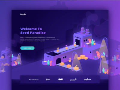 Landing Page for Seedz graphicdesign inspiration uitrends uptrends appdesign userinterface uidesign webdesign ux ui
