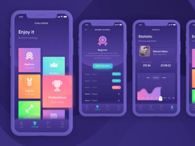 Wonderun - The Running Apps ux ui mobile ios health run analyses gym running design app