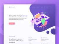Simudyne Landing Page Concept