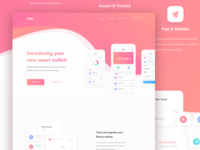 Frepp - New Smart Mobile Banking Landing Page Concept