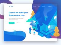 Creavi House Builder - Header Landing Page Concept