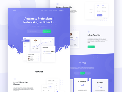 Zest - Dashboard & Landing Page Concept graph card connections network business profile web manage icon typography dashboard app gradient design ux ui website landing page homepage
