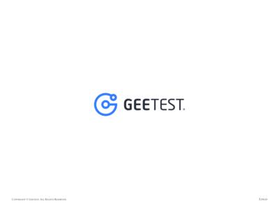 Geetest logo ai security captcha blue logo geetest