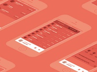 Split app wireframes - Manage your group expenses