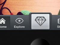 Tab bar iPhone app design - Test 1