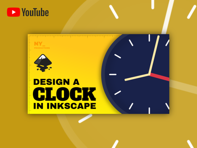 Thumbnail for a Clock Icon Design Tutorial - Inkscape icon design tutorial icons clock ui illustration web vector typography open source youtube thumbnail design
