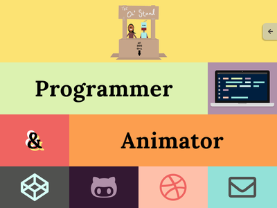 Personal Website Redesign code animation javascript css colorful landing page website