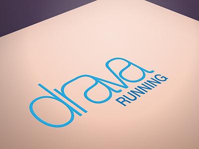 Logo for Drava Running illustrator branding running logo