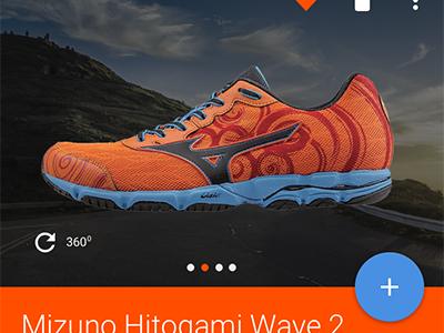 Shoe Finder android integration app running