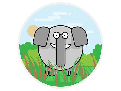 Elephant flat 2d elephant animals illustration