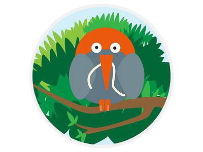 Bird flat 2d bird animals illustration