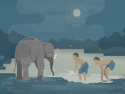 Elephant ps ai 2d animal illustration elephant